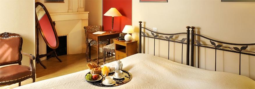 Exemple de chambre hotel manoir de la giraudière en Touraine