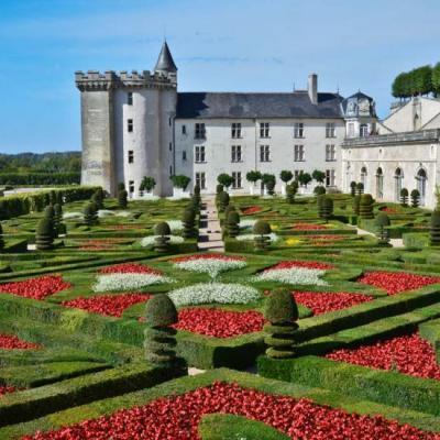 Chateau jardin villandry sur la Loire à vélo