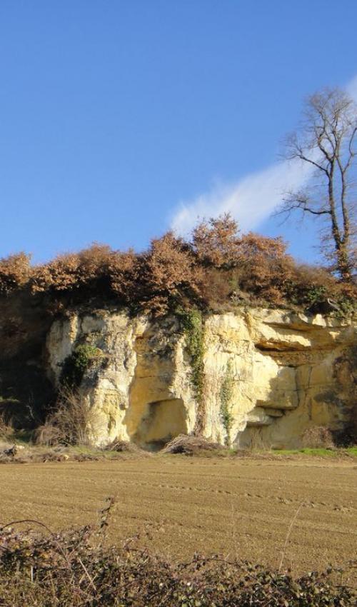 Vue géologique - turonien superieur