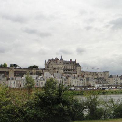 Château d'Amboise sur la Loire à vélo