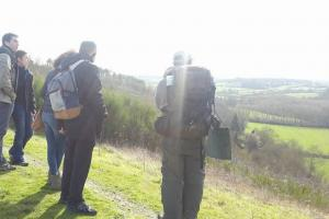 Observation du paysage en val de loire