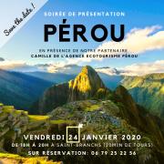 Soirée présentation du Pérou ecotourisme