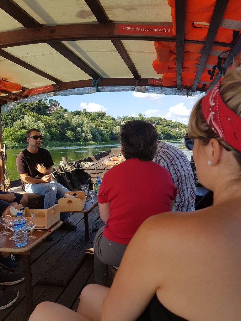 Excursion en bateau sur la Loire