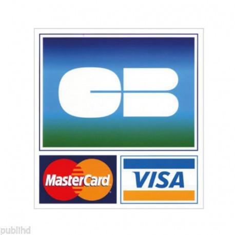 Sticker logo cb carte bancaire