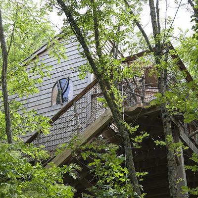 Cabane dans les arbres en val de loire